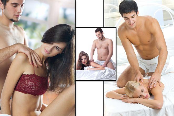 Мужчина делает эротический массаж женщине с маслами