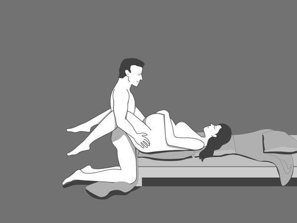 Поза полный релакс для занятий сексом беременным
