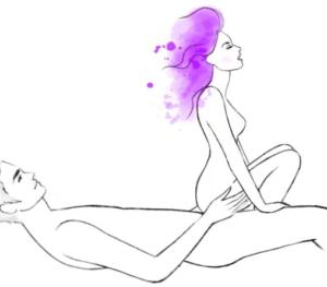 Женщина сидя спиной к мужчине