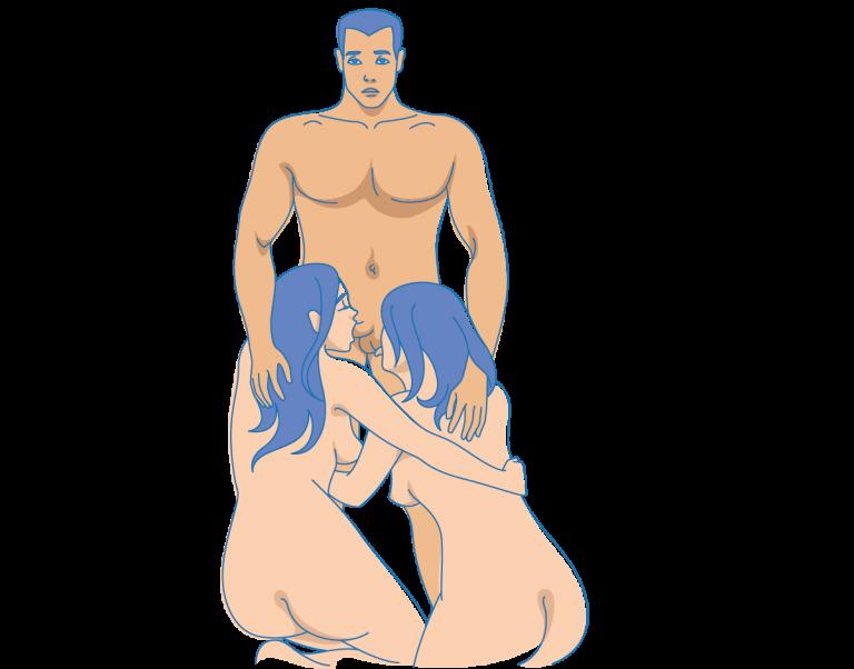 секс втроем как начать какие позы