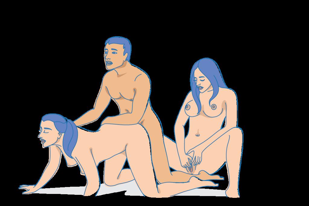 секс позы втроем описание техника картинки